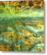 Everglades Morning Mist Metal Print