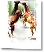 Everglades Ponies Metal Print