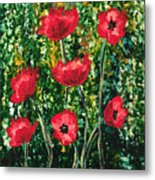 Every Dream Turns Up Poppies Metal Print