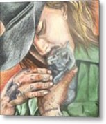 Every Man Has A Soft Spot In His Heart Metal Print