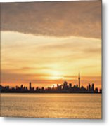 Every Morning Is Different - Toronto First Sunrays In Cyber Yellow  Metal Print