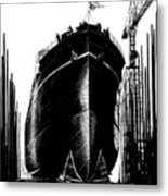 Every Rivet A Bullet - Speed The Ships Metal Print