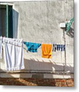 Everyday Life In Venice Metal Print