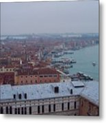 Everything Travels By Boat To Venice Metal Print