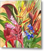 Everywhere There Were Flowers Metal Print