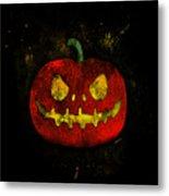 Evil Halloween Pumpkin Metal Print
