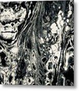 Evil In Black And White Metal Print