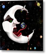 Evil Moon Metal Print