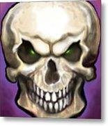 Evil Skull Metal Print