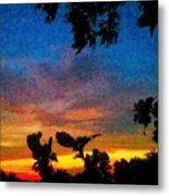 Exagerated Sunset Painting Metal Print