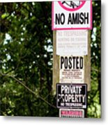 Excessive Property Signs Metal Print