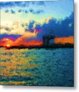 Execution Light  Bronx New York Metal Print