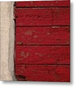 Exercise In Red Metal Print