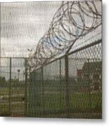 Exercise Yard Through Window In Prison Metal Print