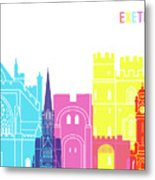 Exeter Skyline Pop Metal Print