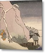 Exiled Buddhist Cleric Nichiren In The Snow Metal Print