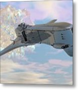 Exiting A Worm Hole Metal Print