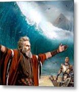 Exodus Moses And Pharaoh  Of Egypt Metal Print