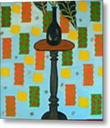 Exotic Plant On Stand Metal Print