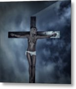 Experimental Crucifix In The Light Metal Print