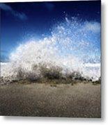 Exploding Seas Metal Print