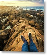 Exploring The Beaches Of Western Tasmania Metal Print