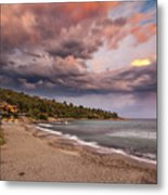 Explosion Of Colored Clouds Metal Print