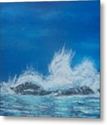 Explosive Waves Metal Print