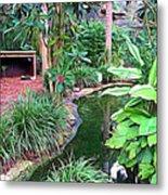 Expressionalism Beautiful Garden  Metal Print