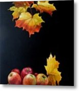 Expression Of Yellow Leaves. Metal Print