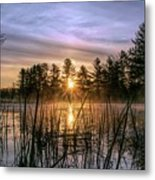 Exquisite Sunrise On The Androscoggin River 2 Metal Print