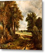 Extensive Landscape With Boy Drinking Water Metal Print
