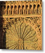 Exterior Of The Rose At Strasbourg Cathedral, France Metal Print