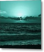Extreme Green Sunset  Metal Print