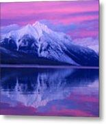 Extreme Sunset On Lake Mcdonald Metal Print