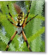 Extruded Spider Metal Print