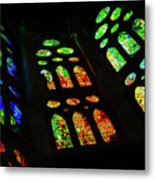 Exuberant Stained Glass Windows Metal Print