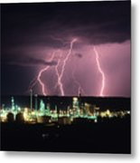 Exxon Lightning Metal Print