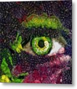 Eye And Butterflly Vegged Out Metal Print