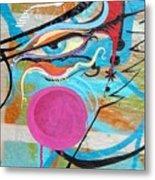 Eye In Blue Metal Print