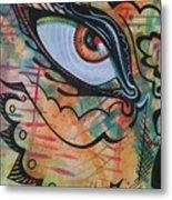 Eye In Orange Metal Print