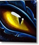 Eye Of The Blue Dragon Metal Print