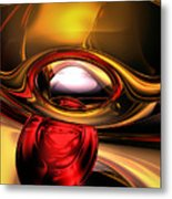 Eye Of The Gods Abstract Metal Print