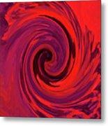 Eye Of The Honu - Red Metal Print