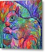 Eye Of The Squirrel Metal Print