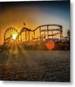 Eye Of The Wheel Metal Print