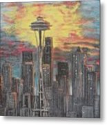 Eye On The Needle Metal Print