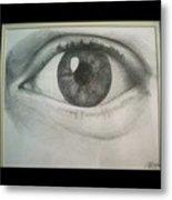 Eye Portrait Metal Print