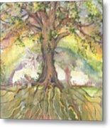Eye See My Healing Tree Metal Print