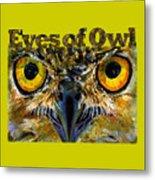 Eyes Of Owls 18 Shirt Metal Print
